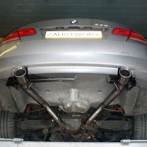 BMW 335i rear silencer deletes