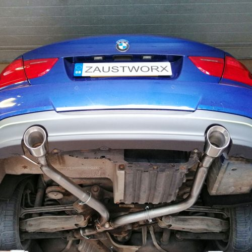 bmw 320d 335 style exhaust conversion