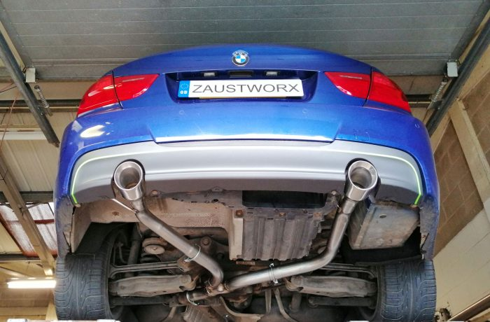 BMW E9X 335i exhaust conversion