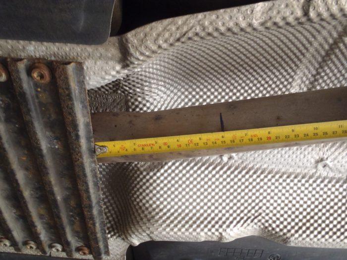 Rear cut position on standard exhaust