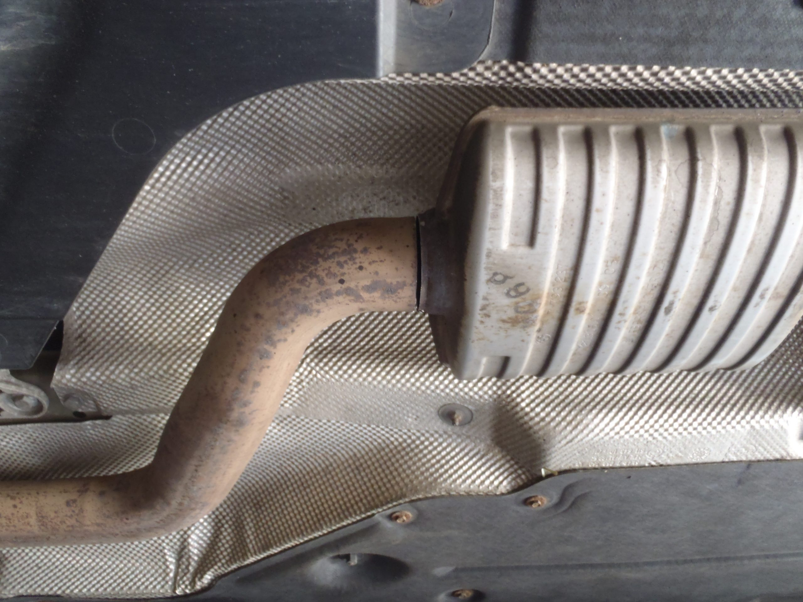 Front cut position on standard exhaust