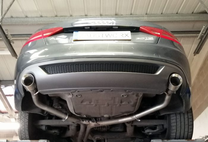 Audi A5 3.0 tdi rear silencer deletes