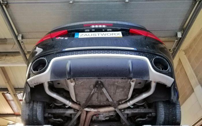 Audi RS5 Cabriolet rear silencer deletes