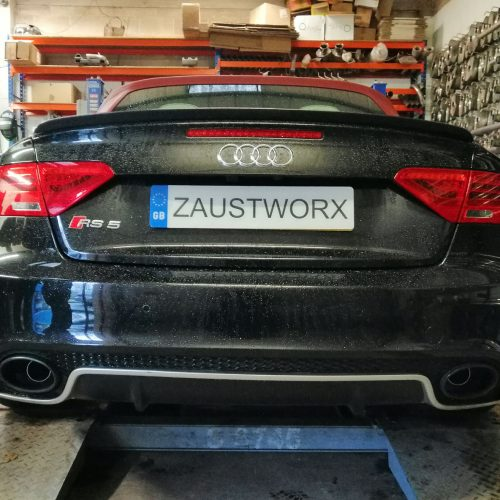 Audi RS5 Cabriolet rear silencer deletes