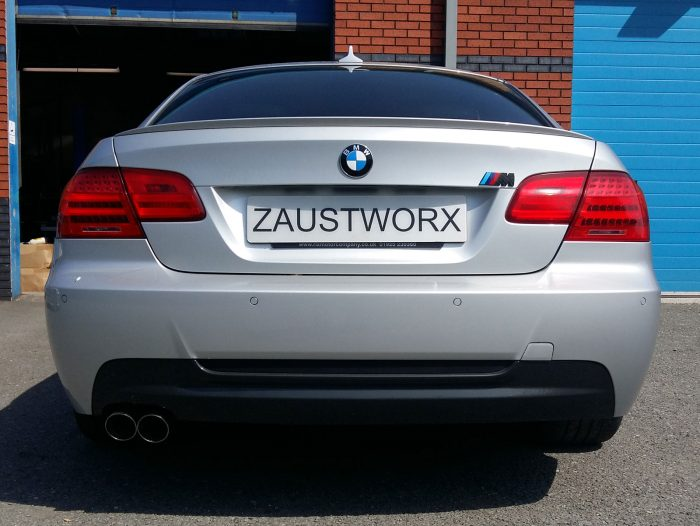 BMW 330d rear silencer delete