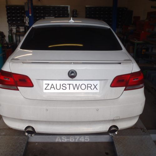 BMW 335d rear silencer deletes