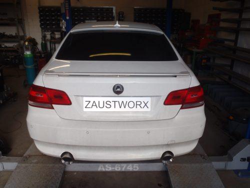 BMW 335d rear silencer deletes