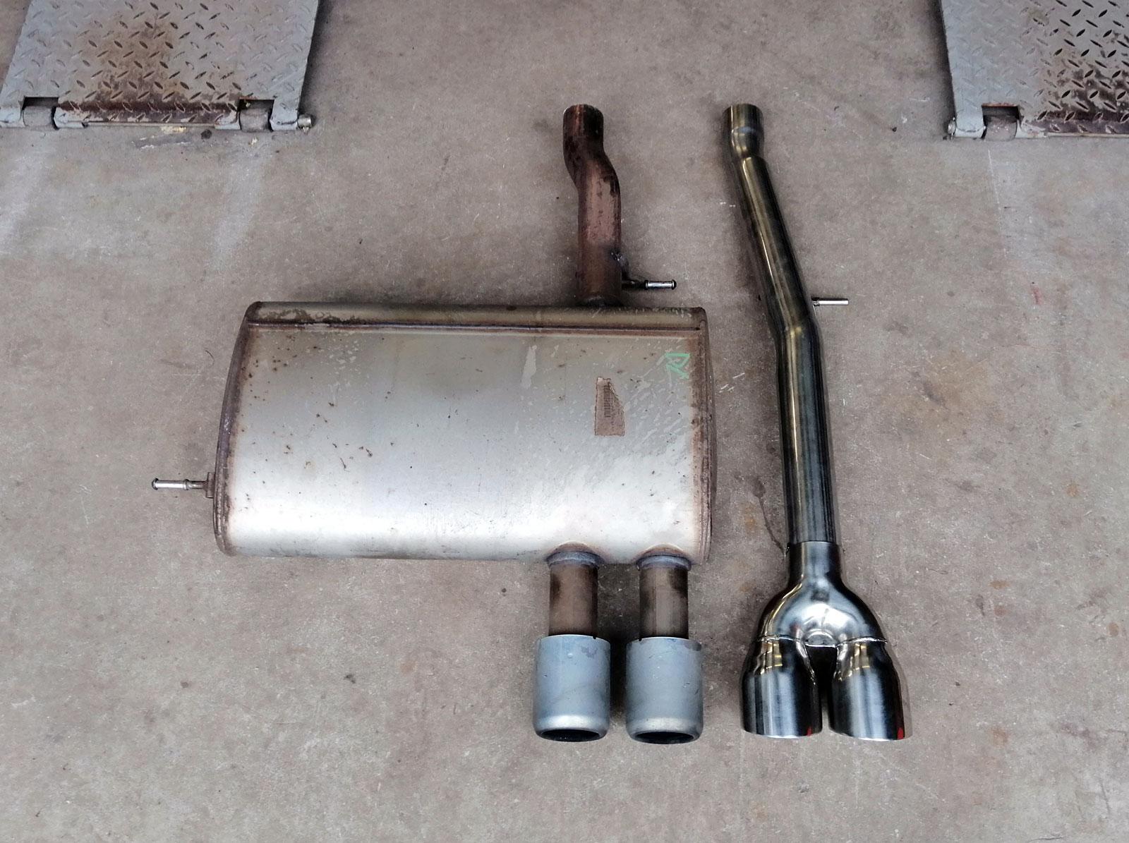 Mini cooper s F55 F56 silencer delete