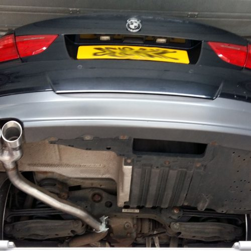 BMW 320d Rear silencer delete