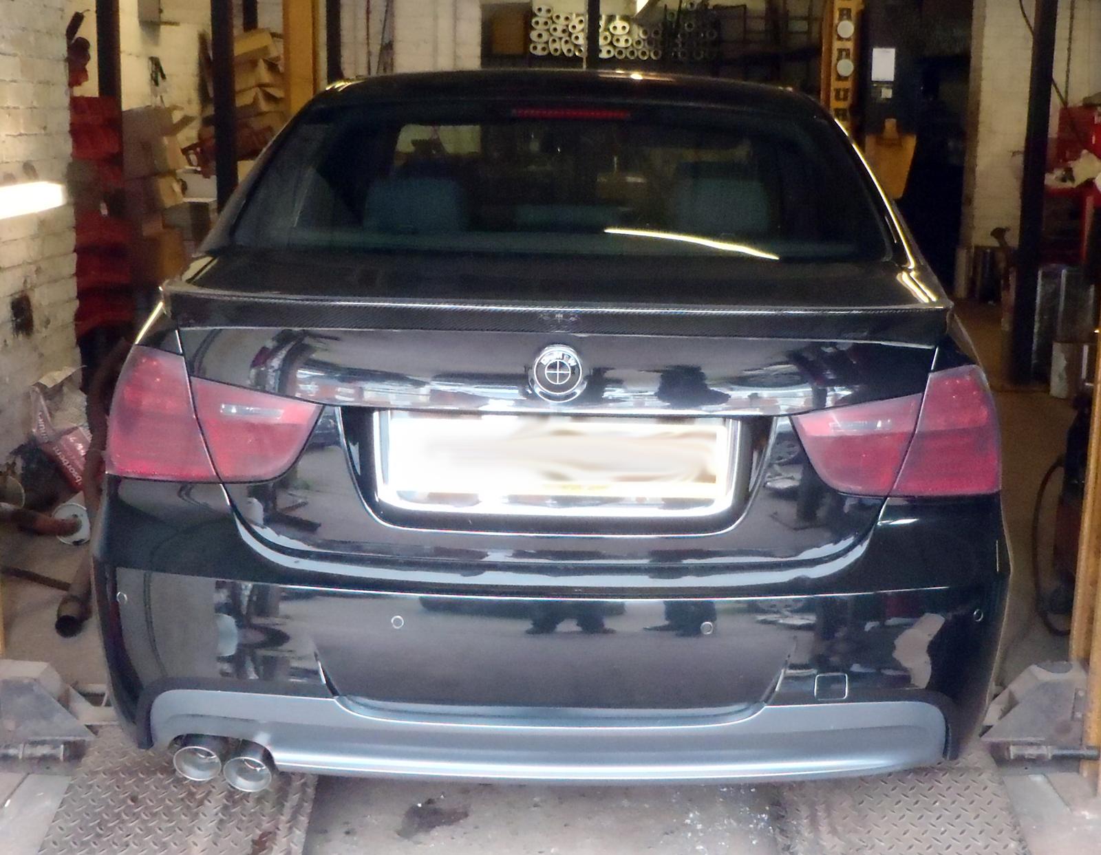 BMW 320d rear silencer delete