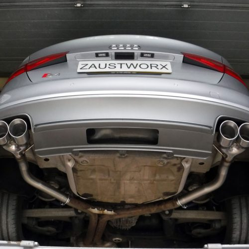 audi s4 b8 rear silencer deletes
