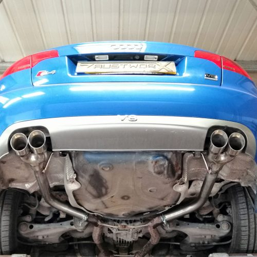 audi s4 b7 rear silencer deletes