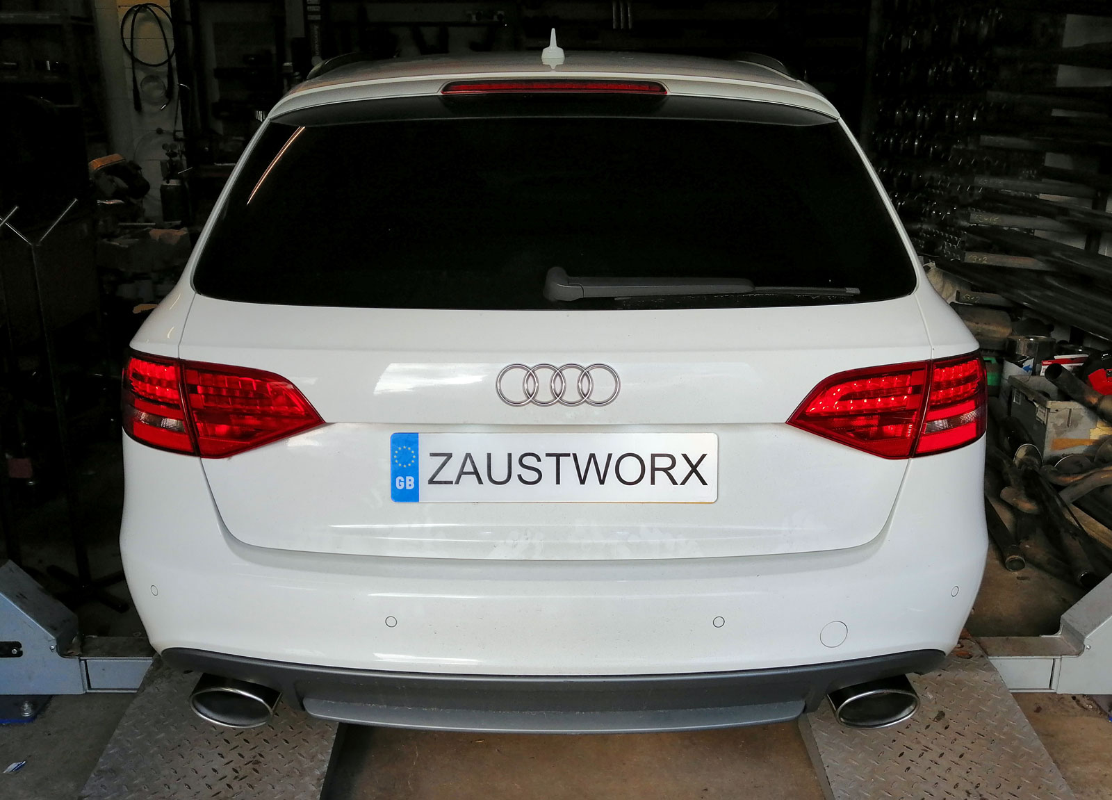 audi s4 b8 rear silencer deletes RS style