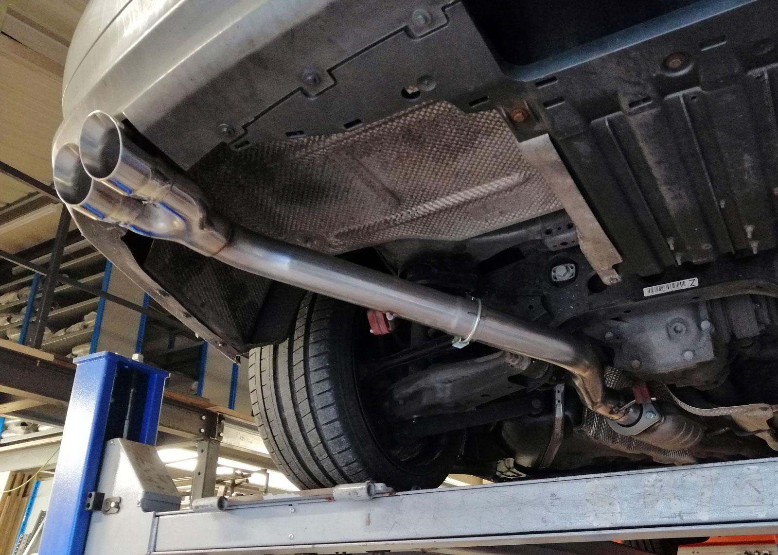 bmw 325i n53 rear silencer delete