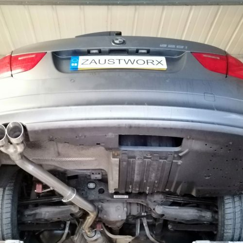 bmw 325i n53 rear silencer delete