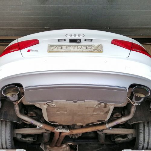 audi s5 3.0 v6 rear silencer deletes